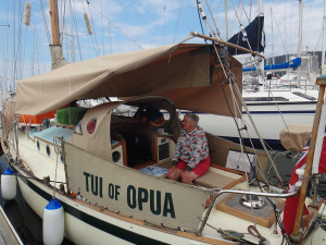 Thelma Morley aboard Tui of Opua